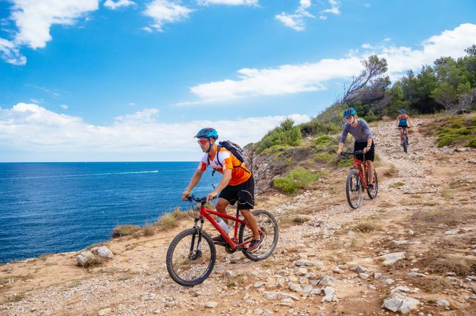 Gruppenreise nach L'Escala - Mountainbike-Tour